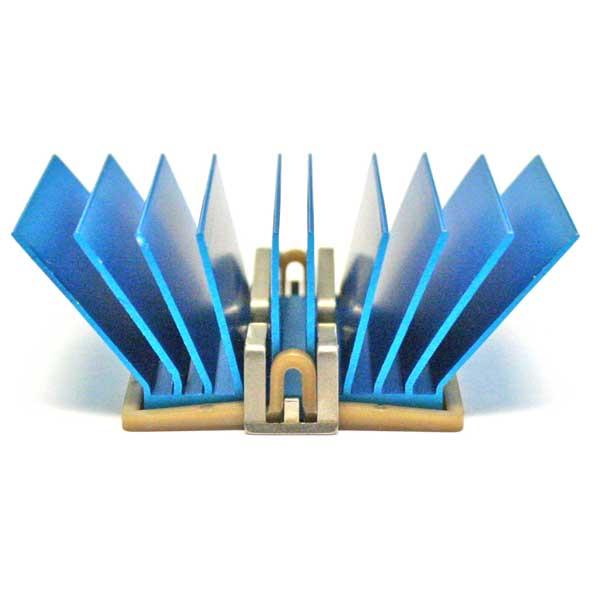 T766 33x33x12.5mm, Blue-Anodized ATS-50330G-C1-R0 Heat Sinks maxiFLOW Heatsink with maxiGRIP Attachment Pack of 2