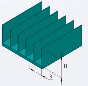 straight fin aluminum heatsink