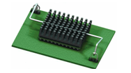 wire form z-clips attach heat sinks to PCB boards