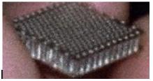 Figure 6 - A 10 x 20 x 1.7 mm MJCA micro jet structure